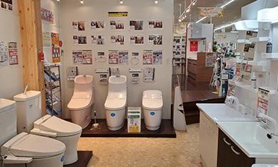 トイレ・洗面所・バスルームをはじめとする水廻りの商品も各メーカー取り揃えております。