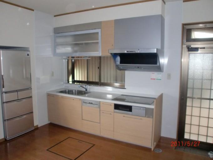 キッチン施工F邸1