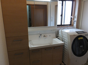 【LIXIL/ピアラ】洗面脱衣室工事★施工事例