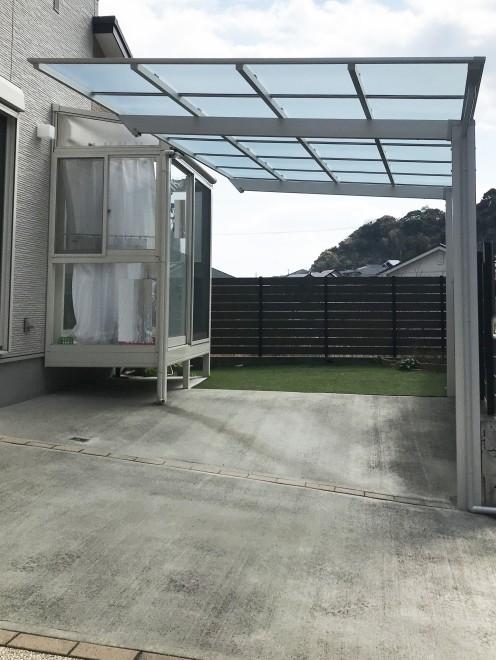 カーポート設置工事 施工事例 【リビングプラザ滝の神】鹿児島市・リフォーム・塗装・外構・造園